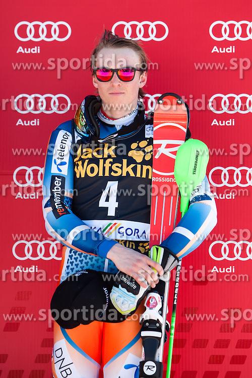 Third place for KRISTOFFERSEN Henrik of Norway at medal ceremony during the 2nd Run of Men's Slalom - Pokal Vitranc 2014 of FIS Alpine Ski World Cup 2013/2014, on March 9, 2014 in Vitranc, Kranjska Gora, Slovenia. Photo by Matic Klansek Velej / Sportida