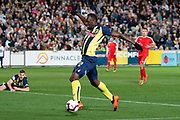 GOSFORD, AUSTRALIA - AUGUST 31: Central Coast Mariners player Usain Bolt (95) at The A-League trial match between the Central Coast Mariners and Central Coast Selecton August 31, 2018 at Central Coast Stadium in Gosford, Australia. (Photo by Speed Media/Icon Sportswire)
