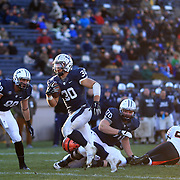 Yale running back Tyler Varga, scores his third touchdown during the Yale Vs Princeton, Ivy League College Football match at Yale Bowl, New Haven, Connecticut, USA. 15th November 2014. Photo Tim Clayton