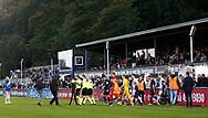 FODBOLD: Spillerne går på banen til kampen i ALKA Superligaen mellem FC Helsingør og AGF den 29. september 2017 på Helsingør Stadion. Foto: Claus Birch
