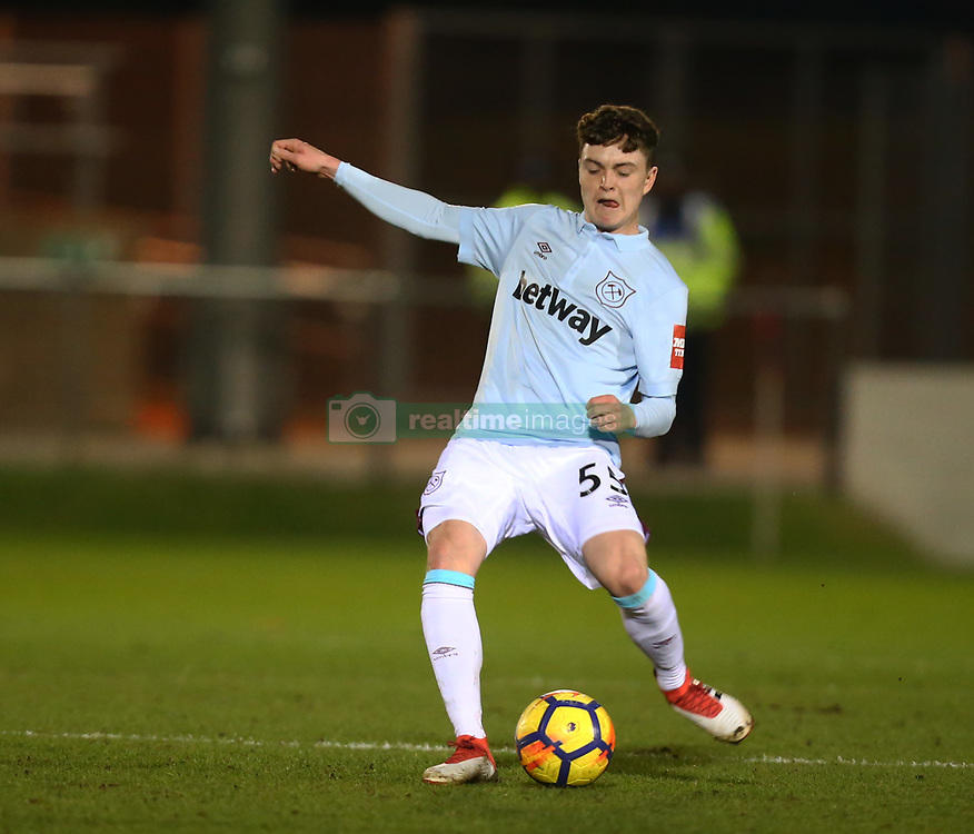 March 21, 2018 - Dagenham, England, United Kingdom - West Ham United's Alfie Lewis.during Friendly match between Dagenham and Redbridge against West Ham United at Chigwell Construction  stadium, Dagenham England on 21 March 2018. (Credit Image: © Kieran Galvin/NurPhoto via ZUMA Press)