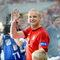 11.07.2015, Allianz Arena, M&uuml;nchen, GER, 1. FBL, FC Bayern Muenchen, Teampr&auml;sentation, im Bild Sebastian Rode (FC Bayern Muenchen) bei der Allianz FC Bayern Team Presentation in der Allianz-Arena Muenchen, 11.07.2015, Foto: Stuetzle/ Eibner-Pressefoto // during the Teampresentation at the Allianz Arena in M&uuml;nchen, Germany on 2015/07/11. EXPA Pictures &copy; 2015, PhotoCredit: EXPA/ Eibner-Pressefoto/ Stuetzle<br /> <br /> *****ATTENTION - OUT of GER*****