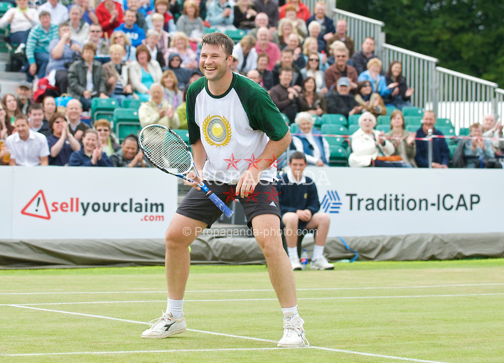 LIVERPOOL, ENGLAND - Sunday, June 21, 2009: Barry Cowan (GBR) during Day Five of the Tradition ICAP Liverpool International Tennis Tournament 2009 at Calderstones Park. (Pic by David Rawcliffe/Propaganda)