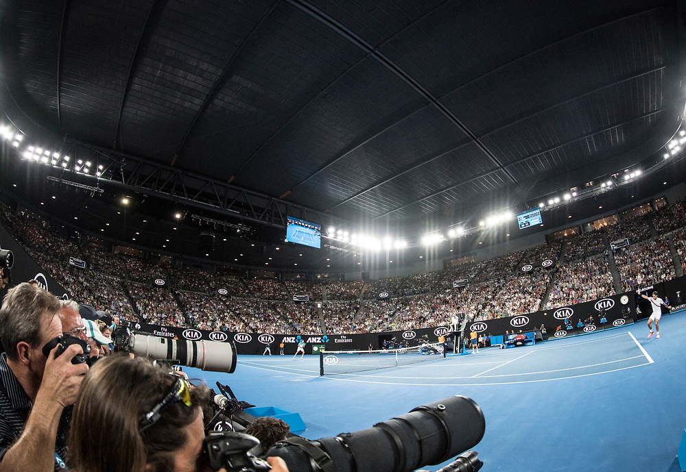 A general view of the court during the championship match of the 2018 Australian Open on day 14 at Rod Laver Arena in Melbourne, Australia on Sunday afternoon January 28, 2018.<br /> (Ben Solomon/Tennis Australia)