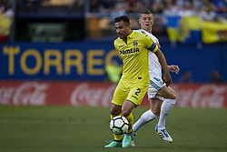 May 19, 2018 - Vila-Real, Castellon, Spain - Mario Gaspar (L) of Villarreal CF competes for the ball with Toni Kroos of Real Madrid CF during the La Liga game between Villarreal CF and Real Madrid CF at Estadio de la Ceramica on May 19, 2018 in Vila-real, Spain  (Credit Image: © David Aliaga/NurPhoto via ZUMA Press)
