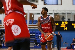 Panos Mayindombe of Bristol Flyers with the ball - Photo mandatory by-line: Arron Gent/JMP - 28/09/2019 - BASKETBALL - Crystal Palace National Sports Centre - London, England - London City Royals v Bristol Flyers - British Basketball League Cup