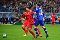 Ezequiel LAVEZZI / faute de Sebastien SQUILLACI / Penalty  - 11.04.2015 -  Bastia / PSG - Finale de la Coupe de la Ligue 2015<br />Photo : Dave Winter / Icon Sport