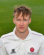 Head shot of George Bartlett of Somerset during the 2019 media day at Somerset County Cricket Club at the Cooper Associates County Ground, Taunton, United Kingdom on 2 April 2019.