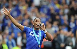 Chelsea's Didier Drogba celebrates. - Photo mandatory by-line: Alex James/JMP - Mobile: 07966 386802 - 24/05/2015 - SPORT - Football - London - Stamford Bridge - Chelsea v Sunderland - Barclays Premier League