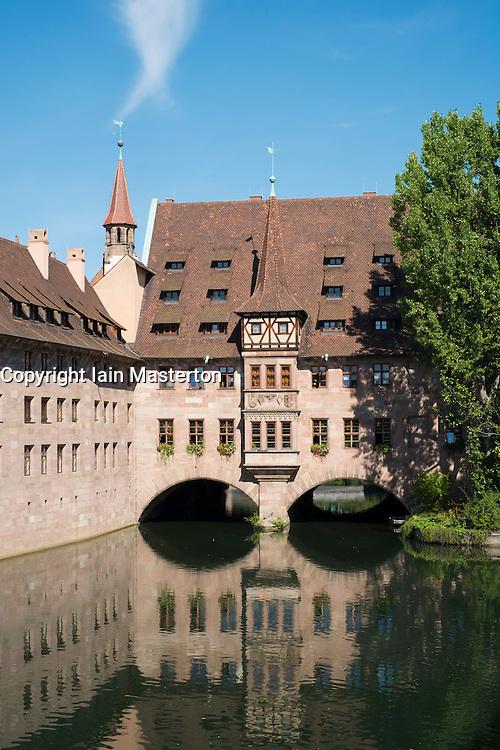 The Heilig Geist Spital or Holy Ghost Hospital in Nuremberg in Bavaria Germany