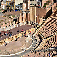 Roman Theatre of Cartago Nova in Cartagena, Spain <br />