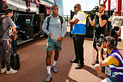 Leeds United forward Edward Nketiah (14), on loan from Arsenal, arriving during the EFL Sky Bet Championship match between Stoke City and Leeds United at the Bet365 Stadium, Stoke-on-Trent, England on 24 August 2019.
