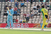 Jason Roy lobs a soft catch to cover during the ICC Cricket World Cup 2019 warm up match between England and Australia at the Ageas Bowl, Southampton, United Kingdom on 25 May 2019.