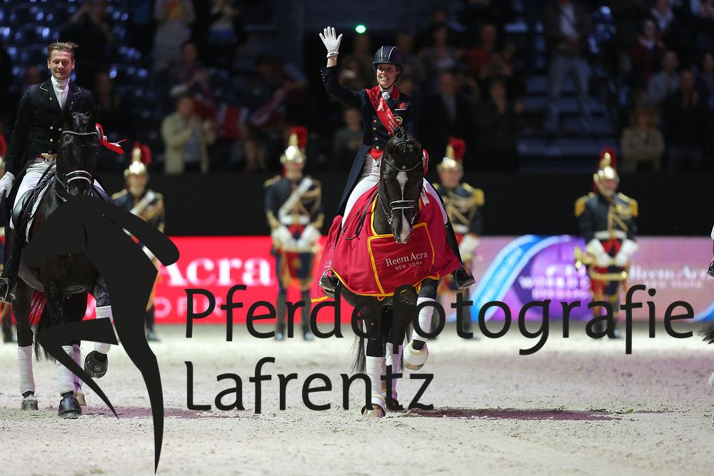 Dujardin, Charlotte<br /> , Valegro<br /> Lyon - Weltcup Finale<br /> Kür<br /> © www.sportfotos-lafrentz.de/Stefan Lafrentz