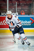 KELOWNA, BC - OCTOBER 12: Quinn Schmiemann #25 of the Kamloops Blazers warms up on the ice against the Kelowna Rockets at Prospera Place on October 12, 2019 in Kelowna, Canada. (Photo by Marissa Baecker/Shoot the Breeze)