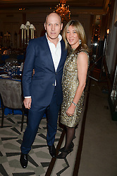 """PEREGRINE & CAROLINE ARMSTRONG-JONES at an """"Evening With Damon Hill'  a dinner and talk in aid of the Downs Syndrome Association held at Claridge's, Brook Street, London on 7th November 2013."""