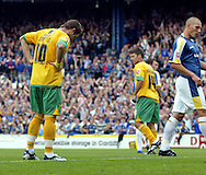 Cardiff - Saturday August 23rd, 2008: Jamie Cureton of Norwich City looks dejected after missing a penalty to draw level during the first half of the Coca Cola Championship match at The Ninian Park, Cardiff. (Pic by Paul Hollands/Focus Images)