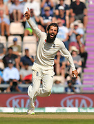 Wicket - Moeen Ali of England celebrates taking the wicket of Virat Kohli (captain) of India during the 4th day of the 4th SpecSavers International Test Match 2018 match between England and India at the Ageas Bowl, Southampton, United Kingdom on 2 September 2018.