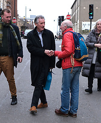 """Glasgow Film Festival, Sunday 3rd March 2019<br /> <br /> UK Premiere of """"Final Ascent""""<br /> <br /> Pictured: Sir Michael Palin goes for a walk in Glasgow after the showing of his film.<br /> <br /> Alex Todd 