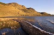 Abert Rim and Lake Abert, a large, shallow, alkali lake in Lake County, Oregon