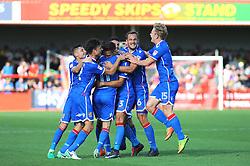 Joe Martin of Stevenage celebrates his goal- Mandatory by-line: Nizaam Jones/JMP - 02/09/2017 - FOOTBALL - LCI Rail Stadium - Cheltenham, England - Cheltenham Town v Stevenage- Sky Bet League Two