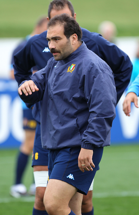 Italy's Salvatore Perugini, at the Captian's run, in the Rugby World Cup, Trafalgar Park,  Nelson, New Zealand, Tuesday, September 18, 2011, New Zealand. Credit:SNPA / Blair Hall