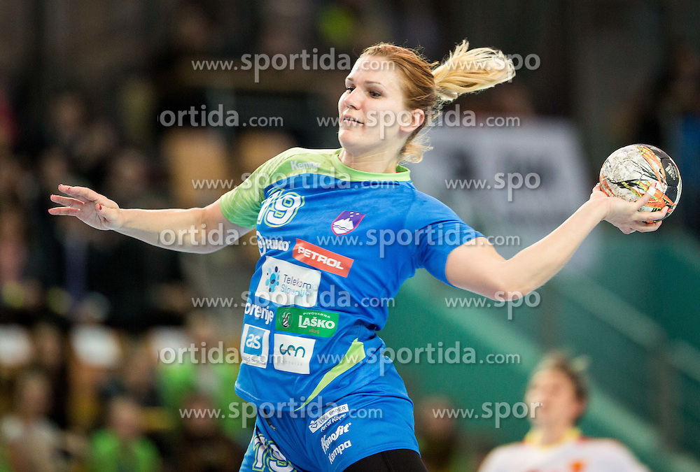Neli Irman of Slovenia during handball match between National Teams of Slovenia and Former Yugoslav republic of Macedonia in Round #3 of EHF European Women Championship Qualifications, on March 10, 2016 in Arena Luknja, Maribor, Slovenia. Photo by Vid Ponikvar / Sportida