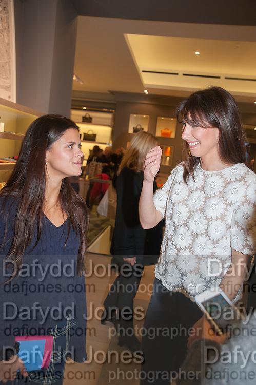 BIP LING; SAMANTHA CAMERON, Smythson Sloane St. Store opening. London. 6 February 2012.