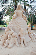 Snow White and the Seven Dwarves Sand Sculpture