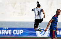 Fifa Womans World Cup Canada 2015 - Preview //<br /> Algarve Cup 2015 Tournament ( Vila Real San Antonio Sport Complex - Portugal ) - <br /> Germany vs Sweden 2-4   -  Dzsenifer Marozsan of Germany , celebrates after his goal (1-0)