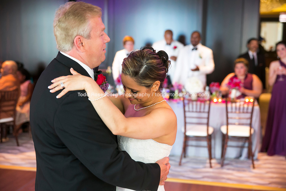 5/21/13 1:43:52 PM .The wedding of April and Sakou on Windy City Live... . © Todd Rosenberg Photography 2013