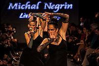 תצוגת אופנה של מיכל נגרין ב שבוע האופנה<br /> ב מתחם התחנה ב תל אביב