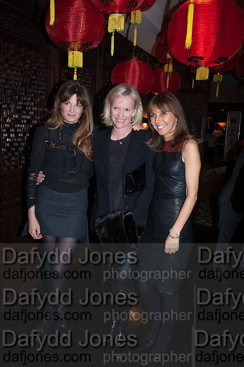 JEMIMA KHAN; ELIZABETH MURDOCH; HENRIETTA CONRAD, Chinese New Year dinner given by Sir David Tang. China Tang. Park Lane. London. 4 February 2013.