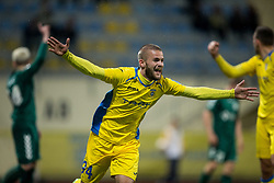 Veljko Batrovic of Domzale celebrates after scoring 2nd goal for Domzale during football match between NK Domzale and NK Krka in Semifinal of Slovenian Football Cup 2016/17, on April 4, 2017 in Sports park Domzale, Slovenia. Photo by Vid Ponikvar / Sportida