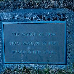 Tidal Wave Plaque, Kodiak Island, Alaska, US