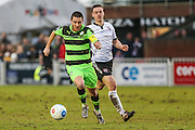 Forest Green Rovers Liam Noble(15) runs forward during the Vanarama National League match between Bromley FC and Forest Green Rovers at Hayes Lane, Bromley, United Kingdom on 7 January 2017. Photo by Shane Healey.