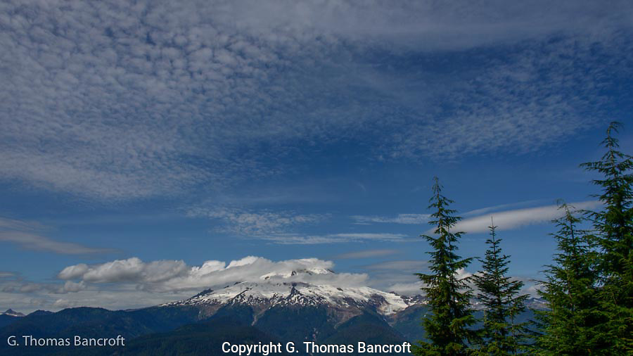 Clouds were drifting across Mt Baker as I climbed toward the Watson Lakes trail head.