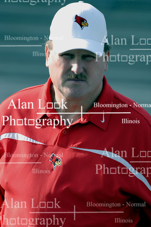 25 November 2006: Coach Denver Johnson.&#xD;The Redbirds romped the Panthers by a score of 24-13.&#xD;This game was a 1st round NCAA Division 1 Playoff held at O'Brien Stadium on the campus of Eastern Illinois University in Charleston Illinois.<br />