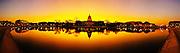 United States Capitol panorama at sunrise