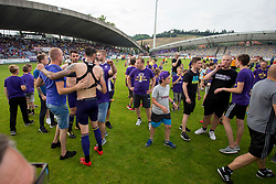 Supporters with players after football match between NK Maribor and ND Gorica in Round #36 of Prva liga Telekom Slovenije 2017/18, on April 27, 2018 in Ljudski vrt, Maribor, Slovenia. Photo by Urban Urbanc / Sportida
