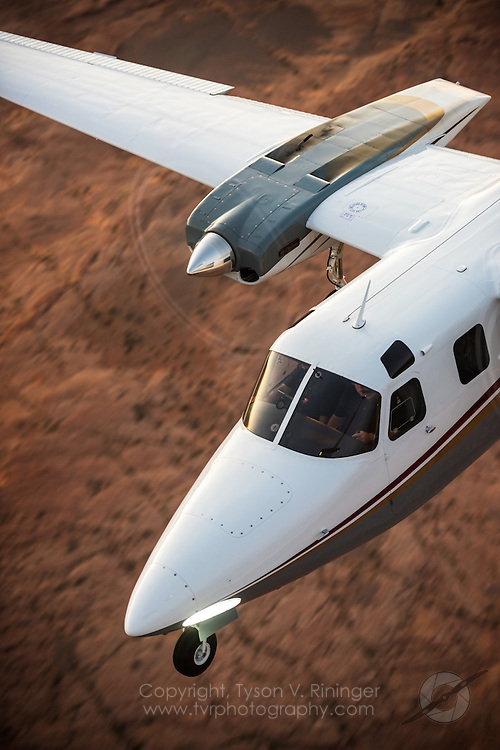 Shrike Commander flown by Erick Teeters and Brian Rikeman over Lake Powell, Arizona.