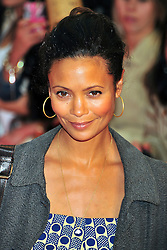 © licensed to London News Pictures. LONDON UK  05/06/11.Thandie Newton attends the premiere of Kung Fu Panda 2 at Westfield shopping center London. Please see special instructions for usage rates. Photo credit should read ALAN ROXBOROUGH/LNP