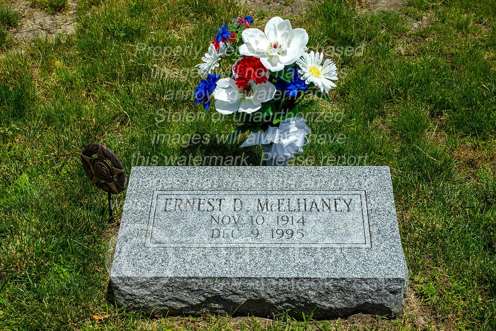 Hittle Grove Cemetery near Armington in Tazwell County.<br /> <br /> Ernest D McElhaney Nov 10, 1914 - Dec 9 1995<br /> S Sgt US Army Air Corps  World War II