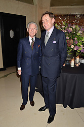 Left to right, EDWARD SEXTON and NICK FOULKES at a reception hosted by The Rake Magazine and Claridge's to celebrate London Collections 2015 held at Claridge's, Brook Street, London on 8th January 2015.