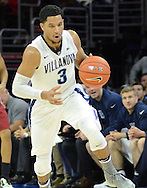Villanova's Josh Hart (3) dribbles the ball against IUP in the first half Saturday, November 5, 2016 at the Wells Fargo Center in Philadelphia, Pennsylvania. (WILLIAM THOMAS CAIN / For The Philadelphia Inquirer)