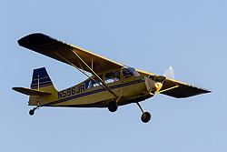 American Champion Citabria Aurora 7ECA (N596JR) lands at Palo Alto Airport, Palo Alto, California, United States of America