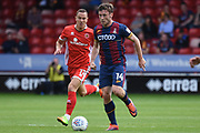 Bradford City striker Shay McCartan (14) on the attack tracked by Walsall midfielder Kieron Morris (11) 0-0 during the EFL Sky Bet League 1 match between Walsall and Bradford City at the Banks's Stadium, Walsall, England on 26 August 2017. Photo by Alan Franklin.