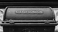 City Of London Garbage Bin - London, England, 2016