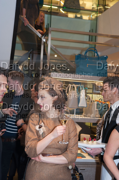 ADELLE MILDRED, Smythson Sloane St. Store opening. London. 6 February 2012.