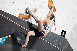 Jessica Pilz of Austria during Women's bouldering Final at the IFSC Climbing World Championships Innsbruck 2018, on September 14, 2018 in OlympiaWorld Innsbruck, Austria, Slovenia. Photo by Urban Urbanc / Sportida